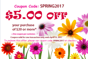 $5 off coupon: SPRING2017